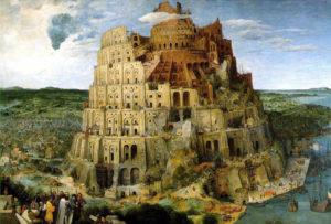 Meertaligheid een probleem: de Toren van Babel